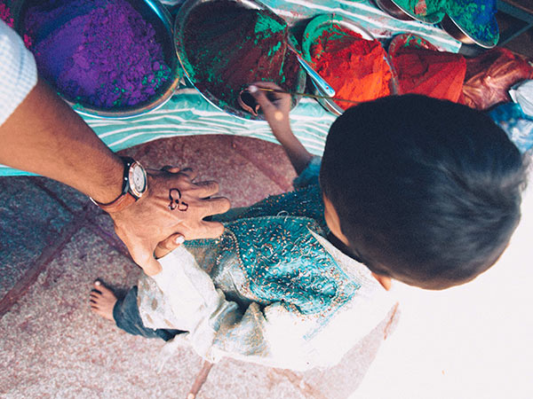 Things to do in Mysore includes an impromptu hand painting session