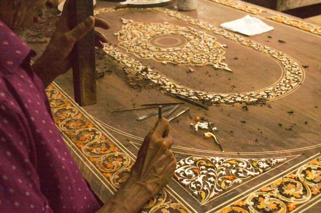 Wood inlay art - one of the must do things in Mysore