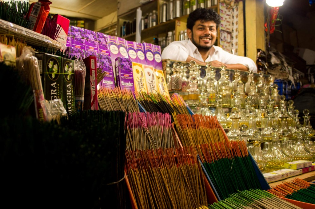 One of the things to do in Mysore in Devaraja Market - check the variety of scents extracted from flowers!
