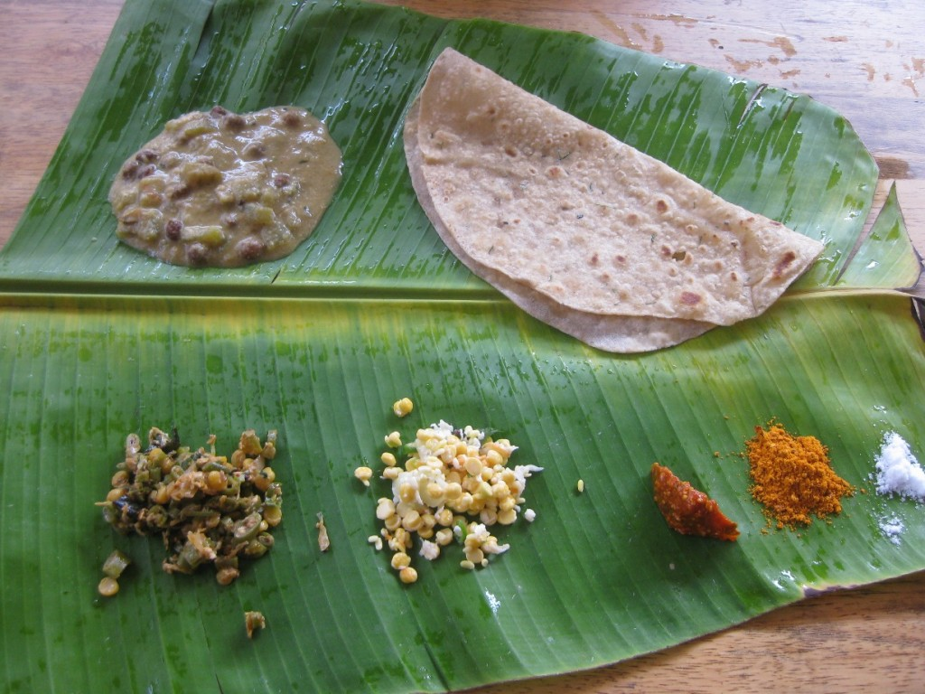 Traditional Plantain Leaf Meal