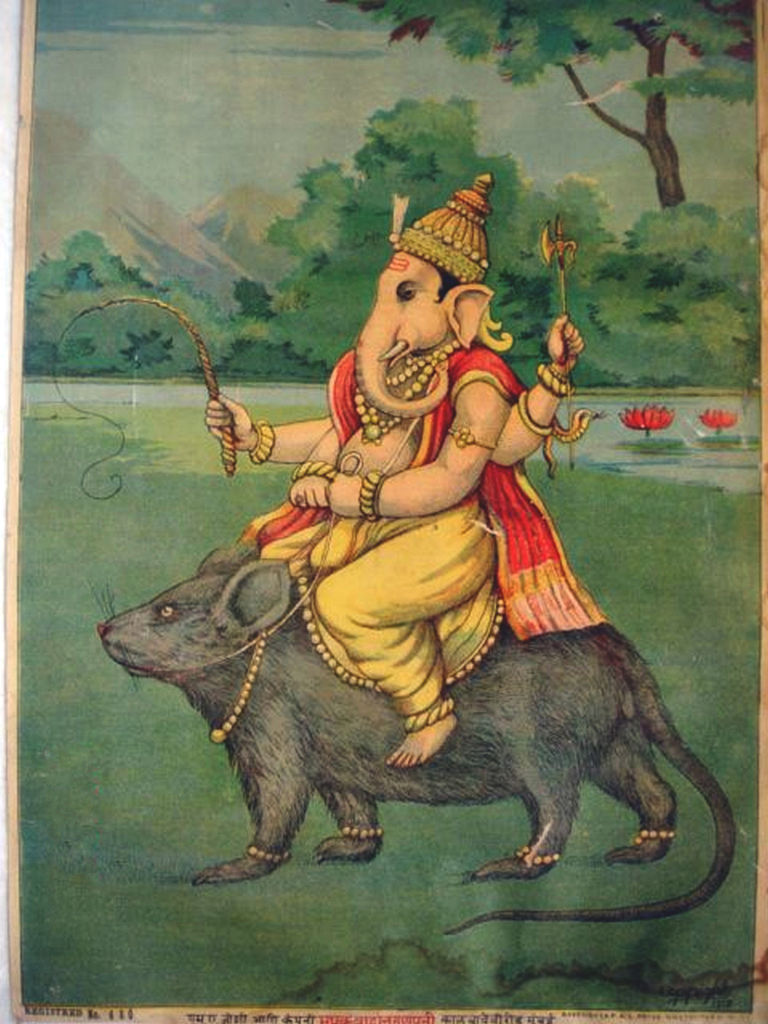 Ganesha is the god of prosperity and good luck. Handy to have him on your side while travelling in India