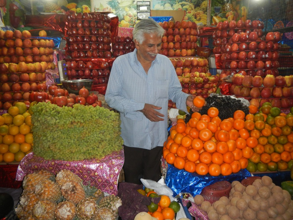 Fruit Seller in an Indian Market