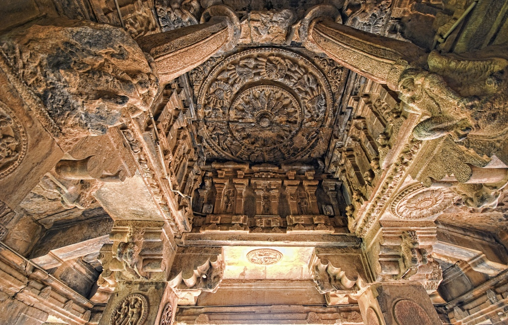 Badami, Pattadakal and Aihole has temples with ceilings like these
