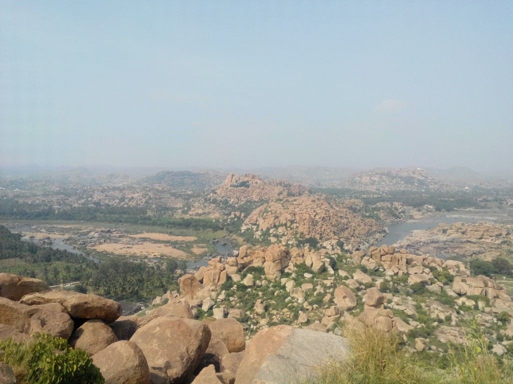 The barren rocky terrain of Hampi