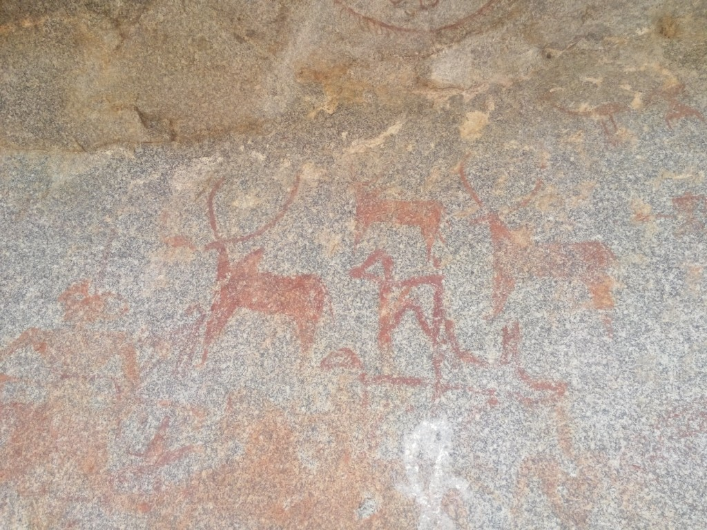 The rock paintings of Hampi and around