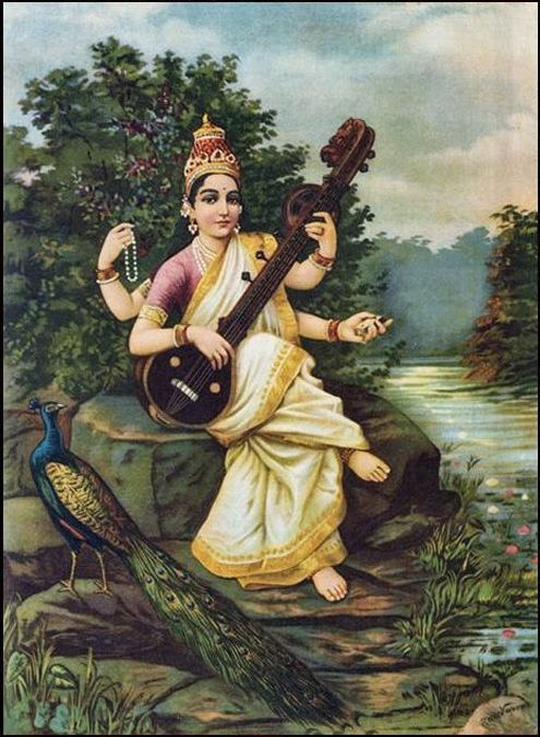 Behold the knowledgeable one, for Saraswati is the Goddess of Knowledge. Seek her blessings while you travel around in India