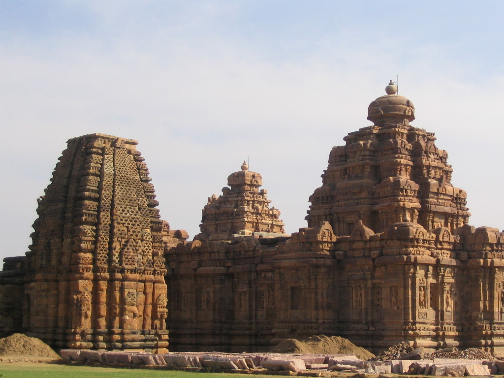 The temple towers of Pattadakal