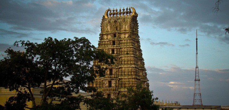 Dasara celebraton include worshipping Goddess Chamundi