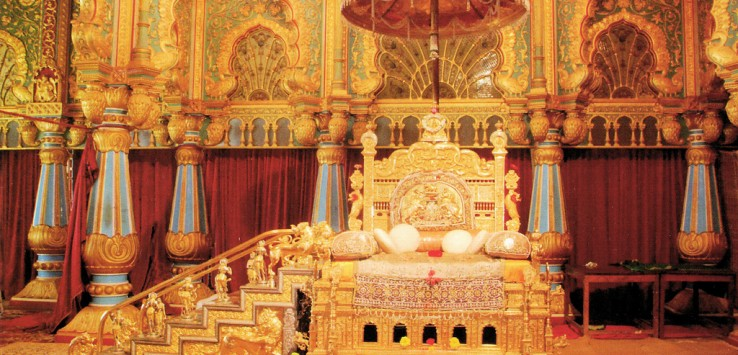 Golden throne on display during Mysore Dasara!