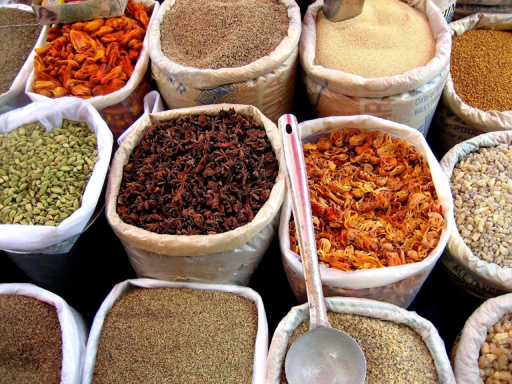 A walk in the spice market is an essential for a guide to Kochi.