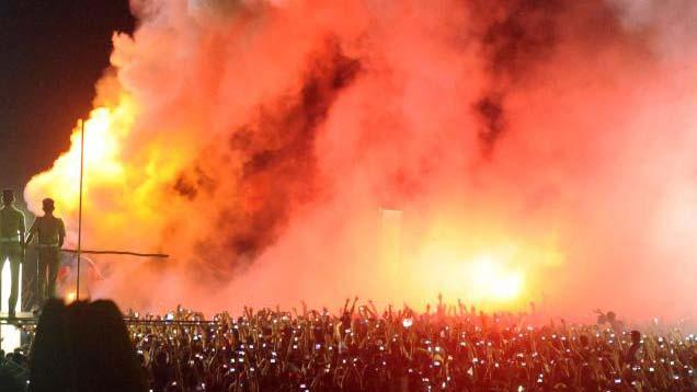 Burning of Pappanji during Cochin Carnival
