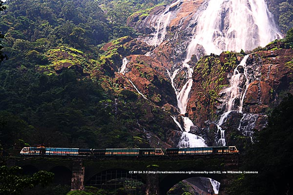 Dudh Sagar Falls is one of the things to do in Goa