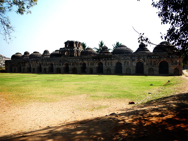 Visit the elephant stables on the Hampi tour
